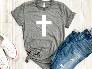 Womens cross shirt , Cross tshirt, Cross tee, Womens Christian apparel, Womens Christian shirt, Easter shirt, Womens Easter shirt
