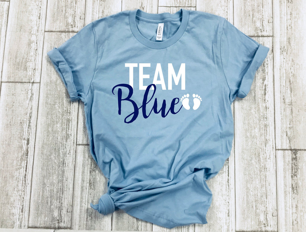 gender reveal shirts- team pink shirt - team blue shirt - its a girl shirt - its a boy shirt - gender reveal idea - gender reveal tees
