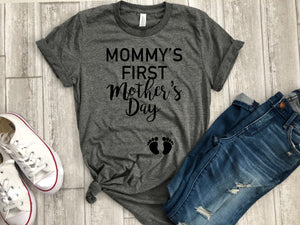 First Mother's day shirt, Expecting Mother's Day shirt, My first Mother's day shirt, Mom gift, New mom gift, Mother's day gift, Gift for mom