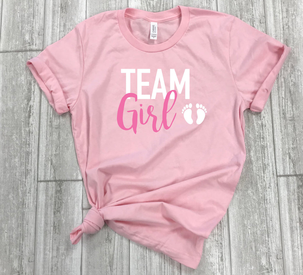 gender reveal shirts- reveal party -team pink shirt - team boy shirt - family shirts matching - its a boy shirt - gender reveal idea -