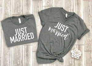 Just married shirts - wifey hubby shirts - honeymoon shirts - wifey t-shirt set - couples shirts - bride shirts - groom shirts free shipping