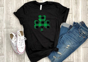 buffalo plaid shirt - st. patricks day shirt - buffalo plaid irish shirt - shamrock shirt - paddys day tee - st. patricks day outfit - irish