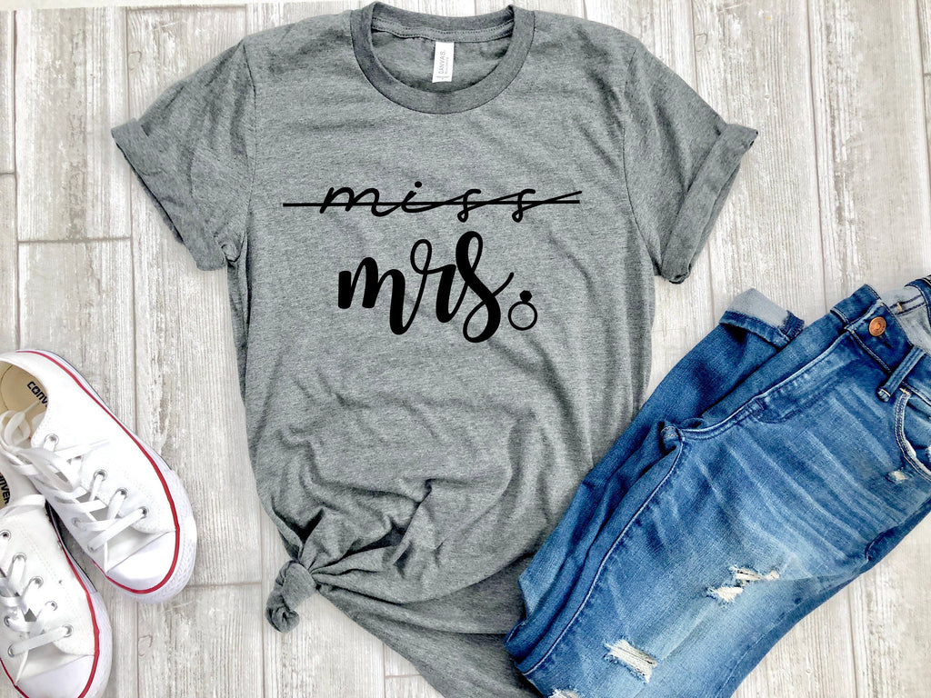 miss to mrs shirts - mrs shirt - mrs t shirt - miss shirt - bridal shirt - bridal tee - bridal gift - gift for bride - miss to mrs t shirt