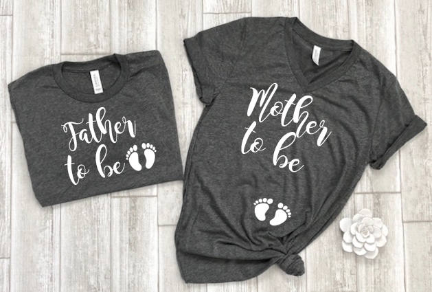 daddy to be shirt - mommy to be shirt - expecting shirts - pregnant shirt - new dad shirt - announcement shirts - pregnancy couples shirts