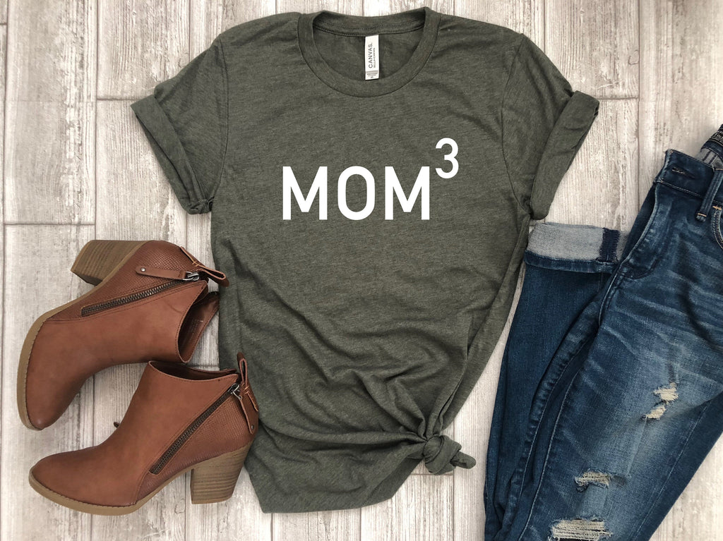 mothers day tee - shirt for mom - funny mom tee - mom tshirt - mom of 3 - mom gift - gift for her - mothers day gift - gift for wife