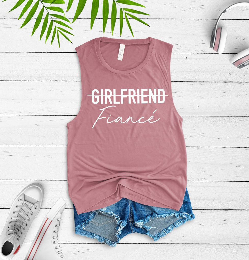 girlfriend fiance shirt - fiance shirt - girlfriend fiance tee - engaged shirt - engagement gift - announcement shirt - newly engaged shirt