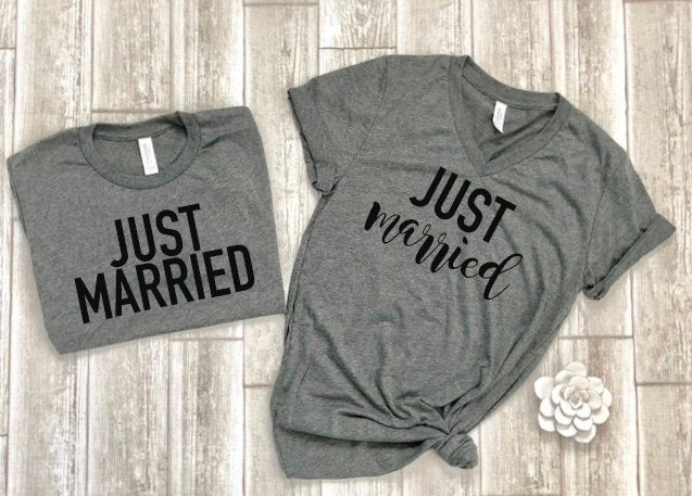 Wifey hubby shirts - Just married shirts-honeymoon shirts - wifey t-shirt set - couples shirts - bride shirts - groom shirts free shipping