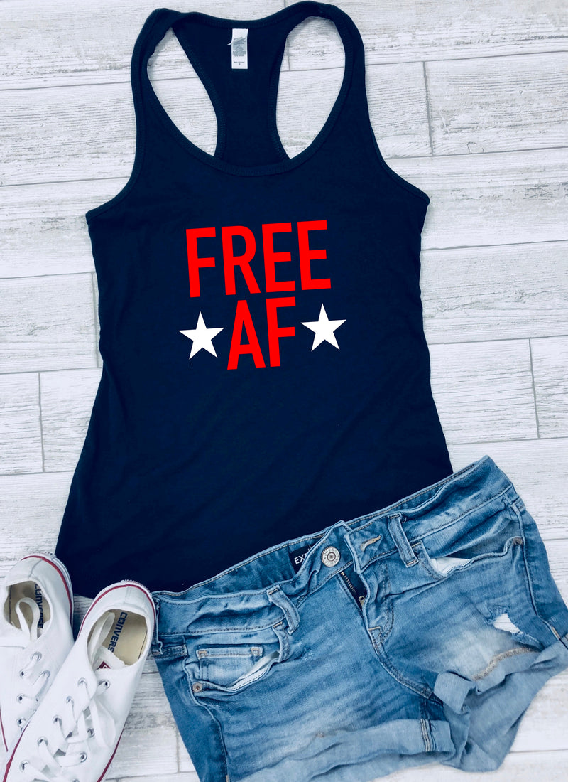 free af tank - 4th of july shirt - patriotic tank - festival clothing - flag shirts - merica shirt - 4th of july outfit - usa tank