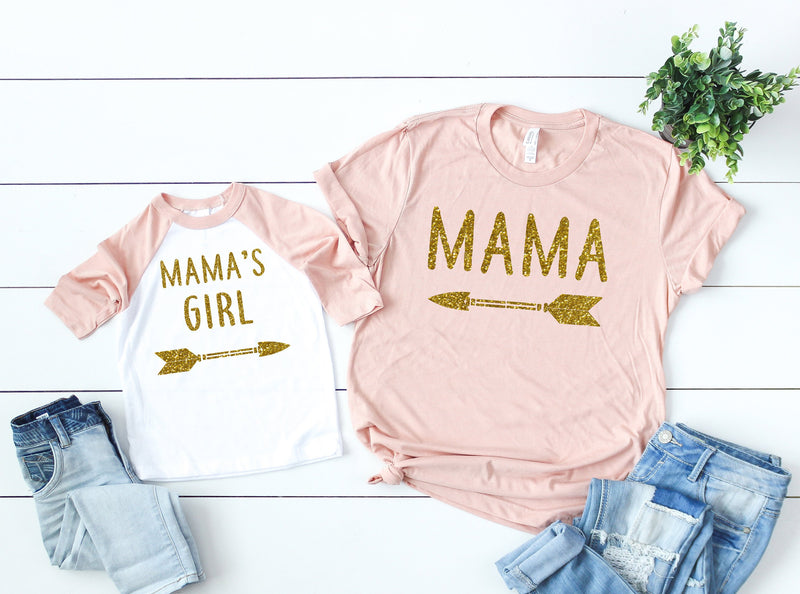 glitter shirts, matching mommy and me, matching shirts, mommy and me shirts, gift idea for mom, mother and daughter shirts, matching tees