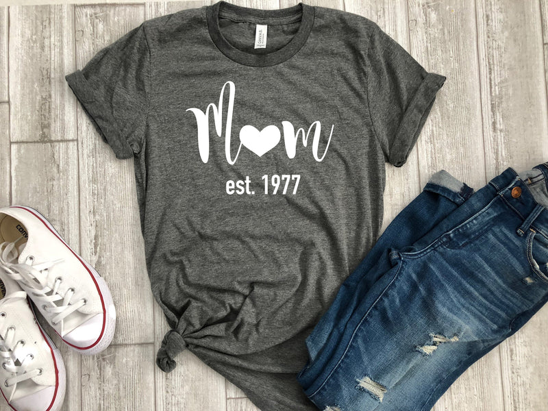 Christmas gift for mom - mom est. shirt - mom shirt - mom t-shirt - super mom - mom gift - gift for her - mothers day shirt - gift for mom