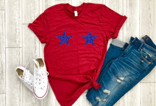star bra shirt, 4th glitter star shirt, 4th of July glitter shirts, glitter star bra tee, glitter star tee, 4th of July tee, 4th of July bra