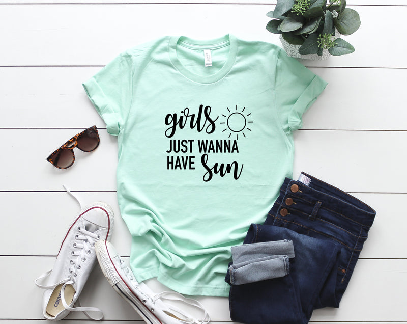 girls just wanna have fun shirt, womens summer shirt, hello summer shirt, beach tank, ocean tank, summer tank, beach vacation tank, beach
