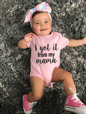 I got it from my mama shirt, cute baby shirt, baby shower gift, first birthday gift, gift for baby, toddler birthday gift, infant gift, gift