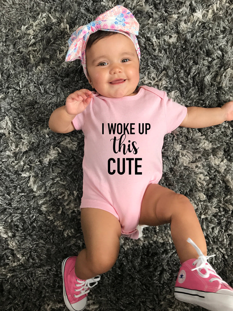 cute baby shirt, I woke up this cute, baby shower gift, first birthday gift, gift for baby, toddler birthday gift, infant gift, gift,