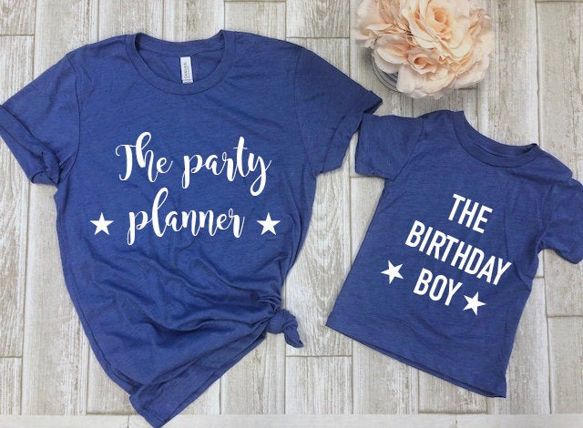 Mommy and me birthday shirts - Matching birthday shirt -mom and son birthday shirt - birthday shirt sets  - mommy and me shirts