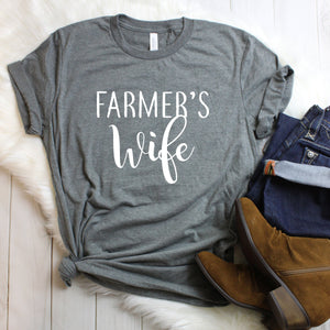 Farmers wife t-shirt, farm life, farmers wife tee, wifey shirt, farmers wife graphic tee, cute women's tee, women's t-shirt, farm life tee