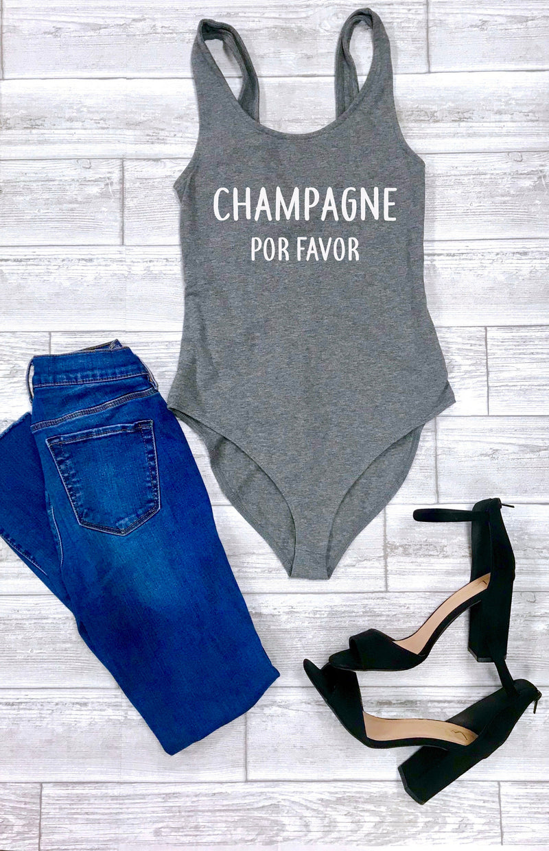 Champagne top, Cute women's bodysuit,  Brunch bodysuit, Sunday outfit, Cute women's outfit, women's bodysuit, cute summer outfit, Womens top