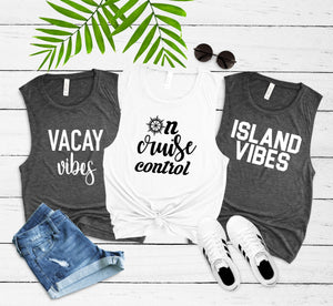 vacation shirt, cruise tanks, vacation mode tank, vacay vibes shirt, vacation tank, girls trip shirt, shirts for girls getaway