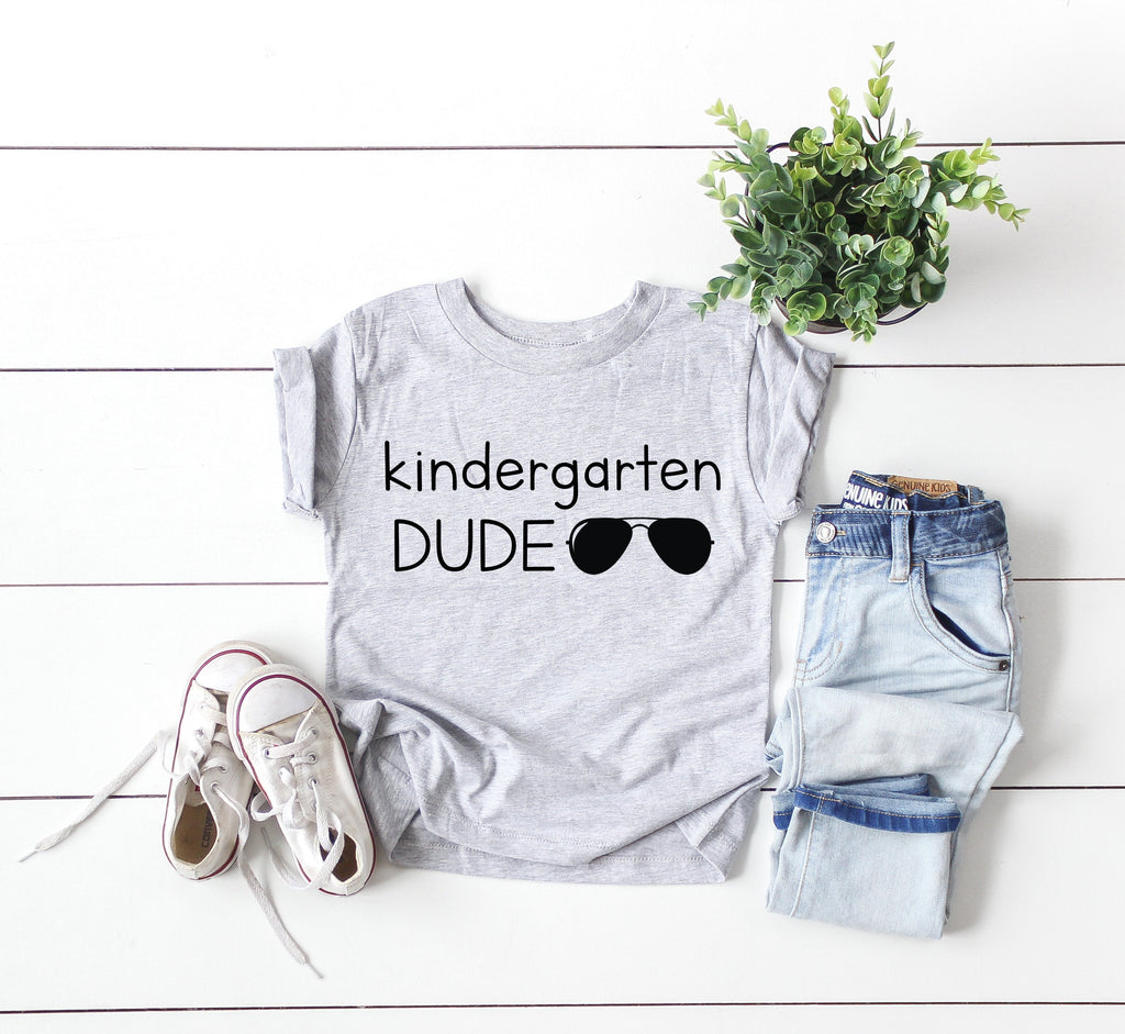 kindergarten dude shirt, back to school shirt, Kindergarten shirt, hello kindergarten shirt, first day of school shirt, Kindergarten tee