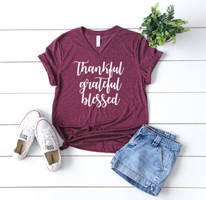 Thanksgiving Tee - Thankful Tee - Womens Fall Tee - Thankful Shirt - Fall Shirt Women - Fall T Shirt Women - Fall Tee - Cute Fall Shirt