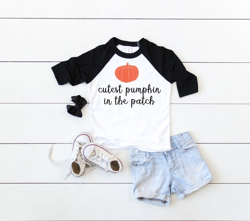 halloween kids shirt, pumpkin kids shirt, fall kids shirt, halloween toddler shirt, halloween baby shirt, halloween raglan shirt