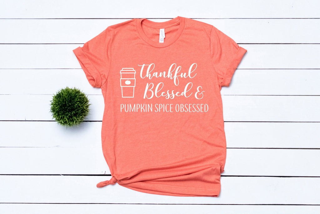 Thankful Shirt - Thankful grateful blessed shirt - Thanksgiving shirt women - Womens Fall Tee - Womens Fall Shirt - Fall Shirt Women