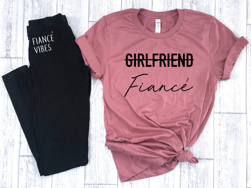 engagement gift, fiance shirt, gift set for engaged, just engaged gift set, fiance leggings, engagement party gift, gift for fiance, fiance