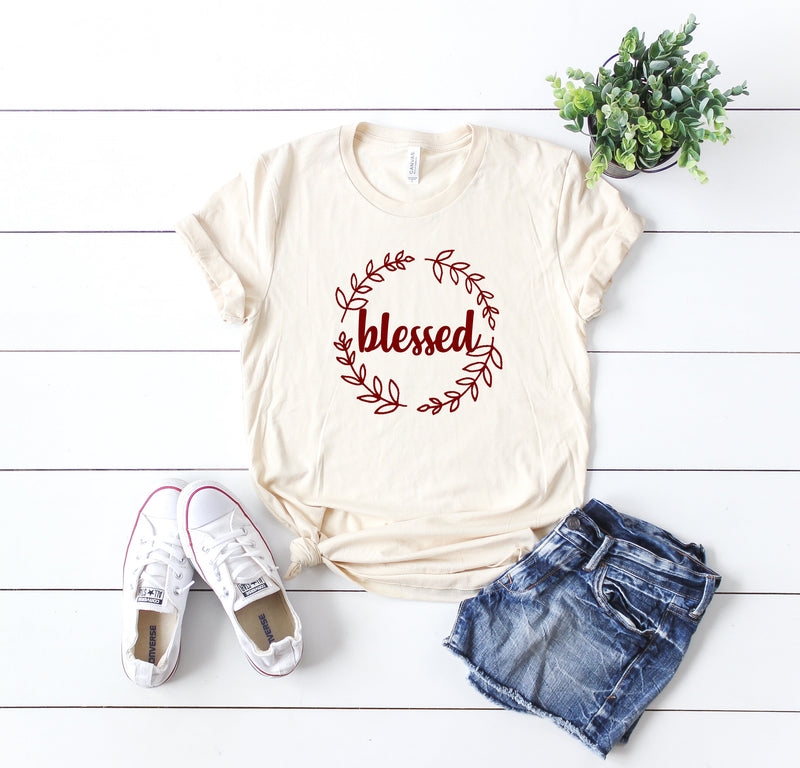 Blessed Shirt - Thankful grateful blessed shirt - Thanksgiving shirt women - Womens Fall Tee - Womens Fall Shirt - Fall Shirt Women