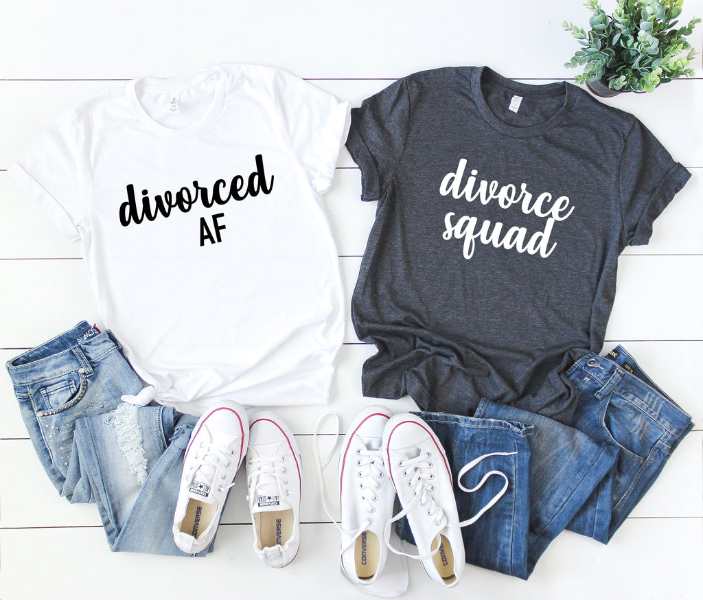 divorced af shirt - divorce squad shirts - divorce party shirts - divorce vacation shirts - divorce announcement shirt - divorce party