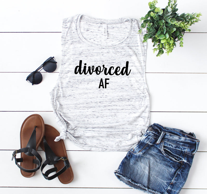 Divorced AF tank, divorce party shirt,custom tank, Graphic tank, women tank, cute tank, tank quote, fashion, gift for her , gift ideas