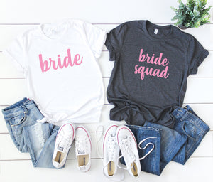 bride squad shirts -  bride shirt - women bridal shirts - bridal party shirts - bachelorette party shirts  - bridal gift - bridal party gift