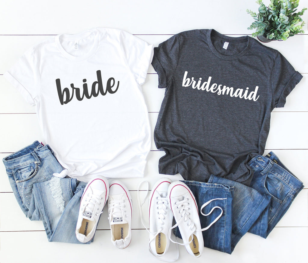 bachelorette party shirts - bridal party shirts - made of honor shirt -  bride shirt - bridal shirts - bridesmaid shirts - bridal party gift