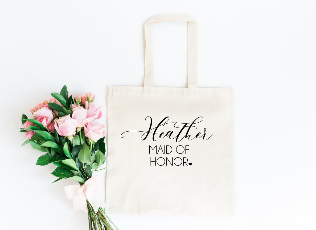 Maid of honor tote, personalized bridesmaid gift, MOH tote bag, maid of honor tote, bridal tote, bridesmaid gift, bridal party tote