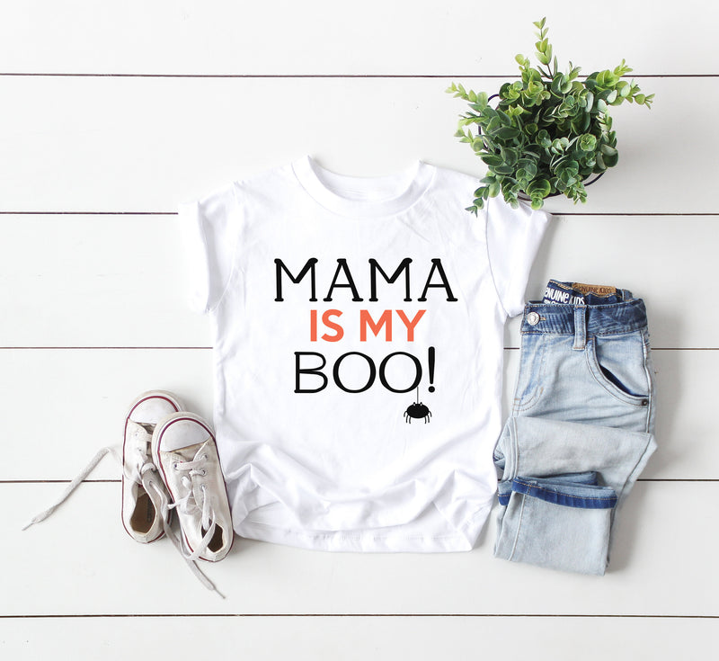 halloween kids shirt, mama is my boo shirt, boo kids shirt, fall kids shirt, halloween toddler shirt, halloween baby shirt, halloween tshirt