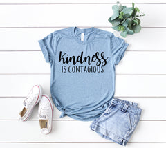 kindness is contagious shirt, kind shirt, be kind shirt, kind tee, positive shirt, positive vibes shirt, good vibes only shirt, choose kind