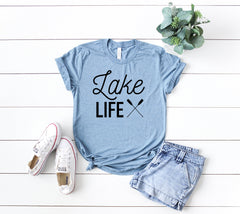Lake life shirt womens, lake life shirt, lake shirt, lake life tshirt, camping shirt, cute lake shirt, life is better at the lake shirt