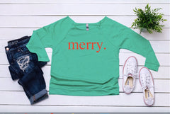 Merry sweater, Women's holiday top, Christmas party top,Women's Christmas shirt,Cute Christmas top,Cute holiday t-shirt,Women's xmas shirt