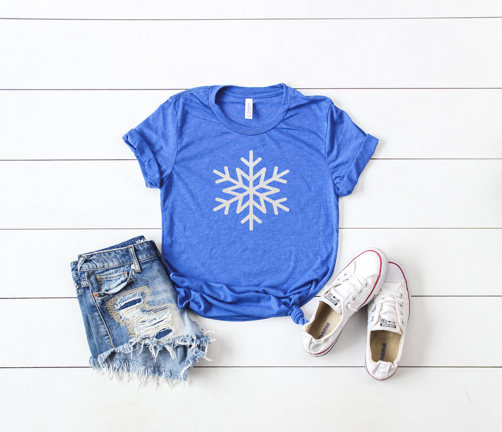 Snowflake shirt, glitter christmas shirt,womens christmas shirt, glitter snowflake,Christmas shirt, Christmas party shirt, cute winter shirt