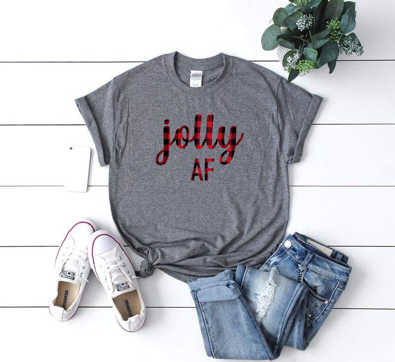 Womens jolly shirt, buffalo plaid christmas shirt, funny shirt, holiday funny shirt, women christmas shirt, christmas gift,gift idea