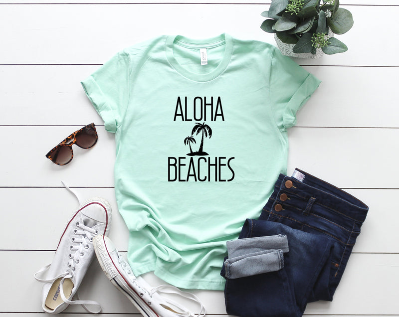 aloha beaches shirt, womens summer shirt, sun tank, beach tank, ocean tank, summer tank, beach vacation tank, beach , summer birthday gift