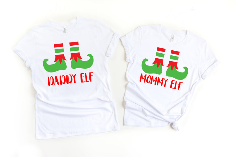 Mommy elf, Daddy elf, Funny Christmas couple shirts, Matching Christmas shirts,Couple Holiday shirts, Holiday shirts,Christmas couple shirts