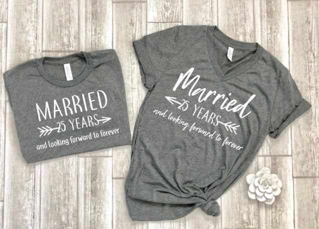 anniversary shirts - gift for anniversary - anniversary gift - couples shirts - anniversary party shirts - customized anniversary tees