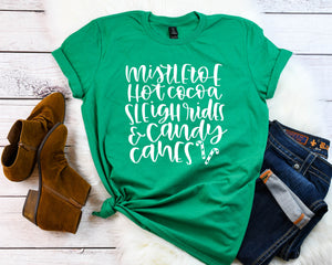 Holiday Cheer shirt, Cute winter shirt,Xmas shirt,Xmas outfit,Christmas shirt, Women's holiday shirt,Cute Christmas shirt, Mistletoe shirt,