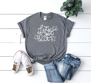 Cute winter shirt, Women's holiday shirt, Funny Xmas tee, Lets get lit t-shirt,Xmas shirt,Xmas outfit,Christmas shirt, Cute Christmas shirt,
