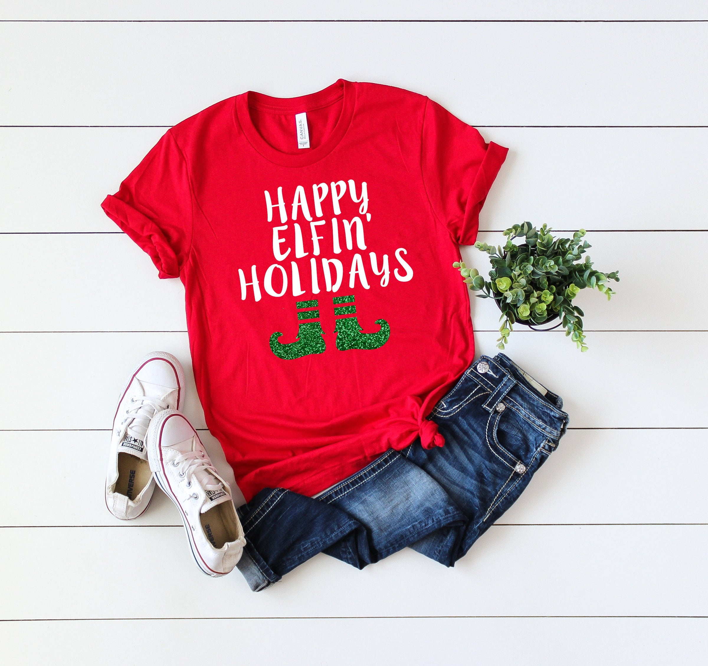 Holidays Are Coming Cool Festive Women/'s T-SHIRT ALL SIZES # Red