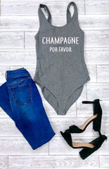 Cute women's bodysuit, champagne Por favor, Brunch bodysuit, Sunday outfit, Cute women's outfit, women's bodysuit, cute summer outfit,