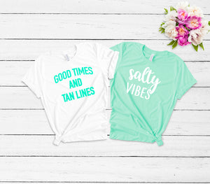 women's vacation shirt -cute women's tees- cute women's t-shirt- vacation shirts- vacation vibes- girls trip shirts- summer outfit