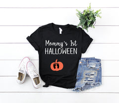 mommys first hallowen shirt, First halloween shirt, halloween pregnancy announcement, Expecting halloween shirt, Mom gift, New mom gift