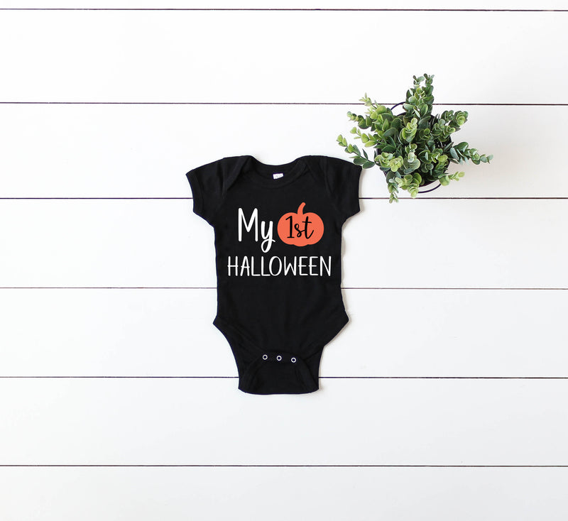 babys first halloween outfit, first halloween shirt, 1st halloween, 1st halloween outfit, my 1st halloween shirt, my first halloween