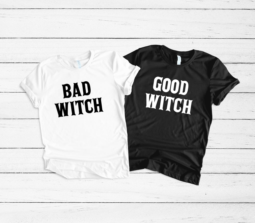 Womens Halloween Shirt - bad witch good witch shirts - best friend halloween shirts - Womens Halloween costume - Funny halloween shirt